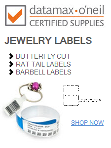 datamax jewelry labels and tags