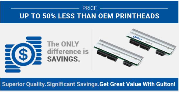 gulton printheads price difference