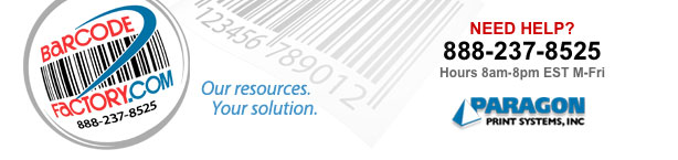 barcodefactory online labeling and bar code printer resource