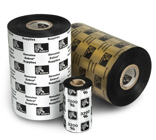 "Zebra 2.25"" x 244' Thermal Transfer Wax-Resin Ribbon 800132-102-EA"