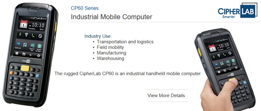 cipherlab cp60 series industrial mobile computer