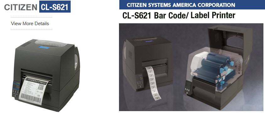 citizen cl-s621 barcode label printer