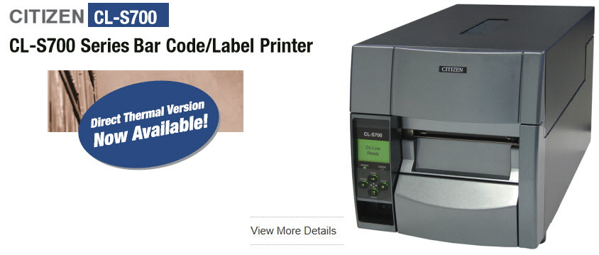citizen cl-s700 barcode and label printer