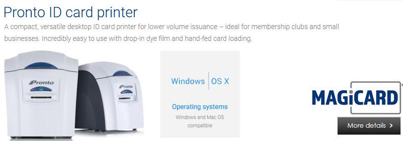 magicard pronto id card printer