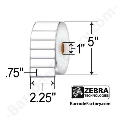 Zebra Labels (Z-Select 4000D) 2.25x0.75  10015340