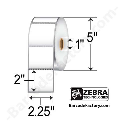 Zebra Labels (Z-Select 4000D) 2.25x2 10015342
