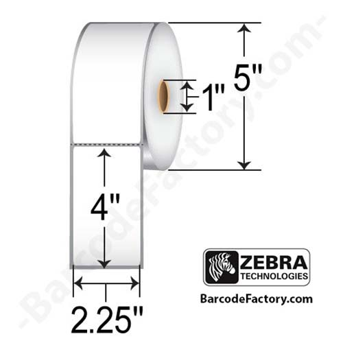Zebra Labels (Z-Select 4000D) 2.25x4 10015343