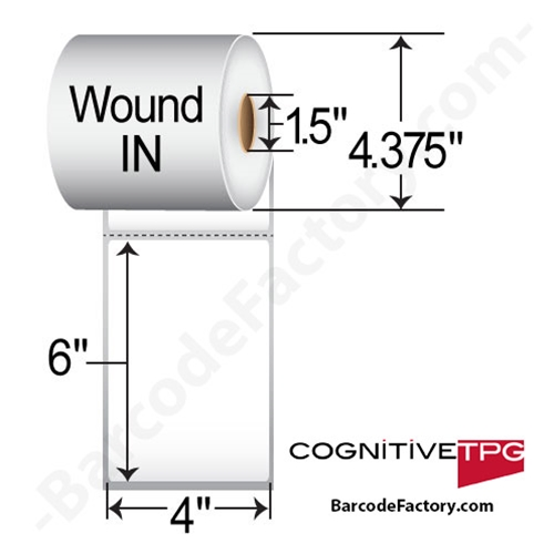 Cognitive 4 X 6 Thermal Trasnfer Labels 03-02-2137