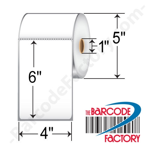 Barcodefactory 4 x 6 Direct Thermal Label BAR4x6-1-475-DT