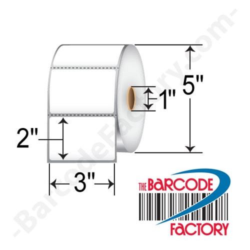 Barcodefactory 3 x 2 Direct Thermal Label 10010044-BAR
