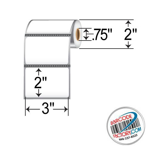 Barcodefactory 3 x 2 DT Label BAR-RD-3-2-190-075