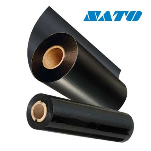 Sato 6.5 x 984ft Black Premium Wax Ribbon 12S000259