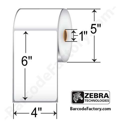 Zebra 4x6 Thermal Transfer Label 10005853