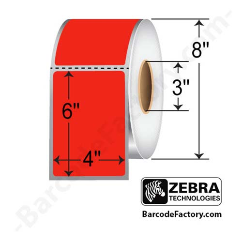 Zebra 4x6 Z-Perform 2000T Color Label 10006208-5
