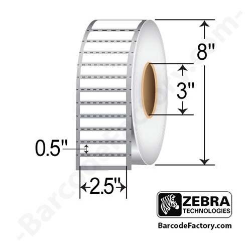 Zebra 2.5x0.5 Z-Ultimate 3000T White 10011700