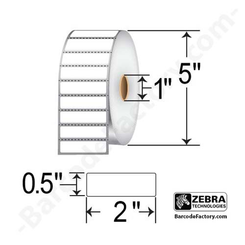 Zebra 2x0.5 Thermal Transfer Poly Label 18928-EA