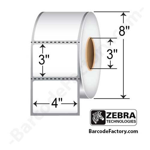 Zebra 4x3 Thermal Transfer Label 10000284-EA