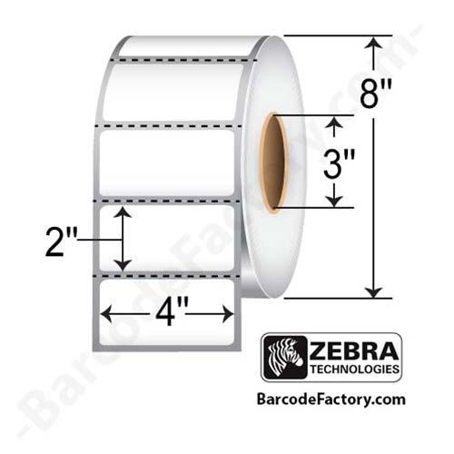 Zebra 4x2 Thermal Transfer label 10000285-EA