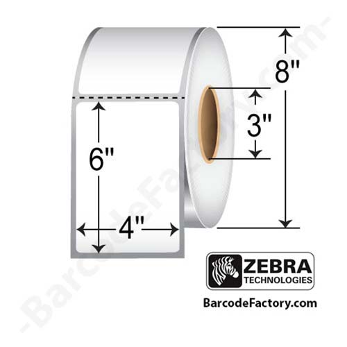 Zebra 4x6 Direct Thermal Label 10000301-EA