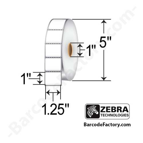 Zebra 1.25x1 Thermal Transfer Label 10009523