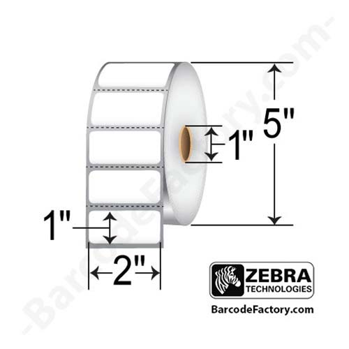 Zebra 2x1 Direct Thermal Label 10010028-EA
