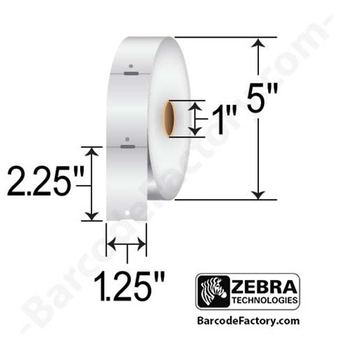 Zebra 1.25x2.25 Direct Thermal Tag 10010053