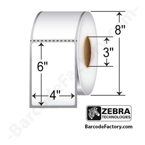 Zebra 4x6 Thermal Transfer Label 10000281-EA