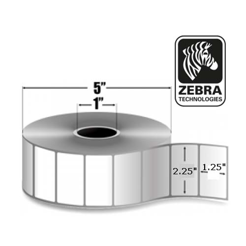 Zebra 2.25x1.25 Thermal Transfer Label 800272-125-EA