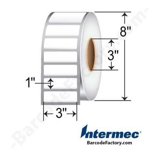 Intermec 3 x 1 Thermal Transfer Paper LabelE09002
