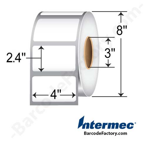 Intermec 4 x 2.4 Thermal Transfer Paper LabelE09004