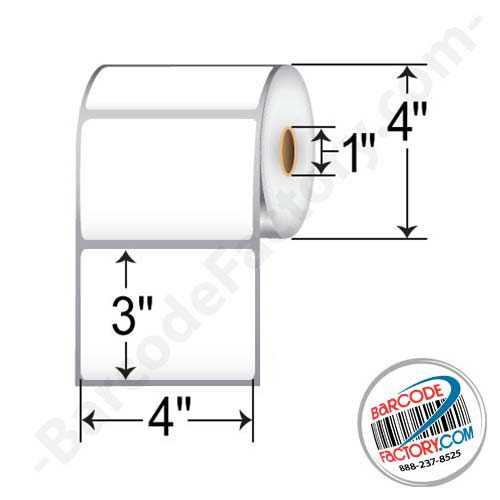 Barcodefactory 4 x 3 Thermal Transfer Paper Label F4-4030DD1T10