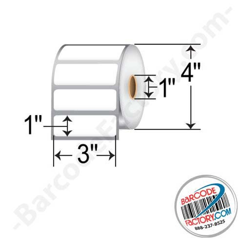 Barcodefactory 3 x 1 Direct Thermal - 4in OD RD-3-1-1375-1