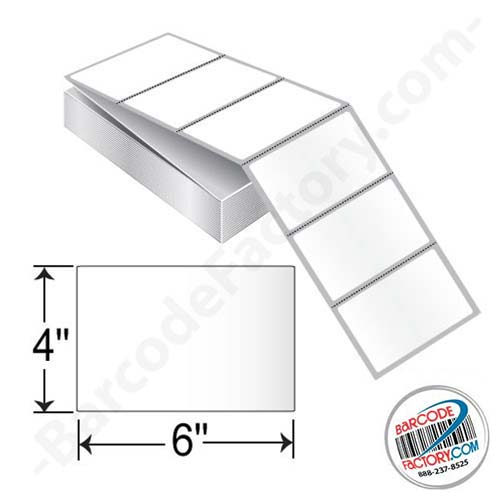 Barcodefactory 6 x 4 Thermal Transfer Fanfold Label