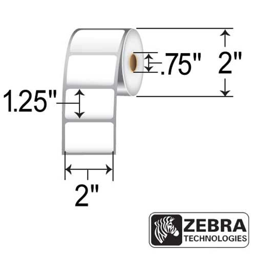 Zebra 2x1.25 Direct Thermal Poly Label LD-R2BF5W