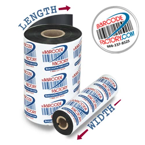 Barcodefactory 1.57x1476ft Flexible Packaging Ribbon