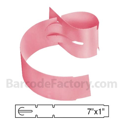 Pink Wrap Tags BAR-WPT7X1-PK