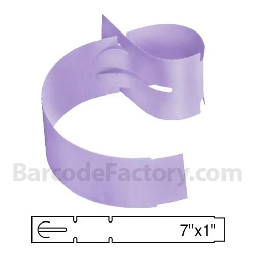 BarcodeFactory 7x1 Thermal Lavender Tree Wrap Tags BAR-WPT7X1-LA