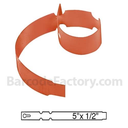 Orange Wrap Tags BAR-WP5X05-OR