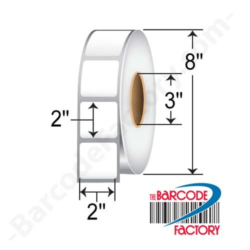 Barcodefactory 2 x 2 Thermal Transfer Paper Label RT-2-2-2900-3