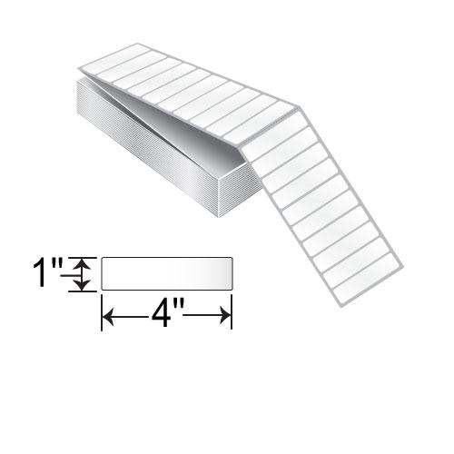 BCF 4 x 1 Inkjet Fanfold Kimdura Label RIJK-4-1-5000-FF