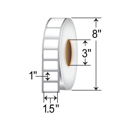 BCF 1.5 x 1 Kimdura Inkjet Paper Label RIJK-15-1-4270-3