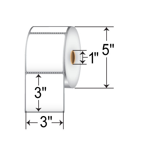 Honeywell 3 x 3 Direct Thermal Paper Label 350966