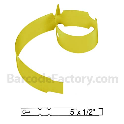 Sato 1/2 x 5 Yellow Slip-On Tag TX1055TTYE