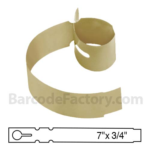 Sato 3/4 x 7 Tan Slip-On Tag TX1077TTTN