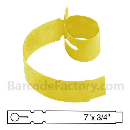 Sato 3/4 x 7 Yellow Slip-On Tag TX1077TTYE
