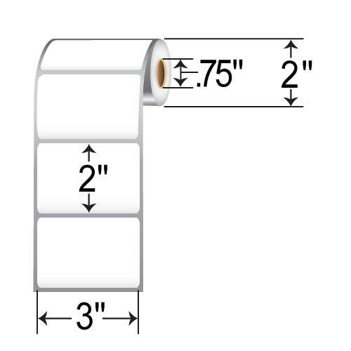 Barcodefactory 3 x 2 DT Label BAR-RD-3-2-190-075-EA