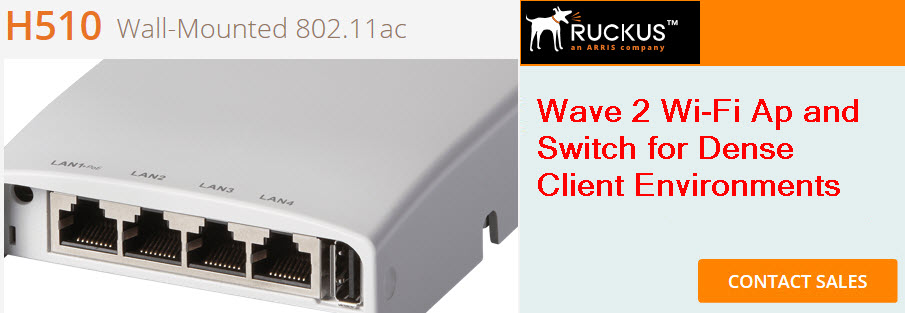 ruckus h510 wireless access point and switch