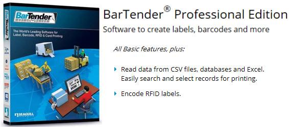 seagull scientific bartender professional software