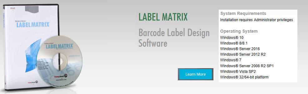 teklynx label matrix software