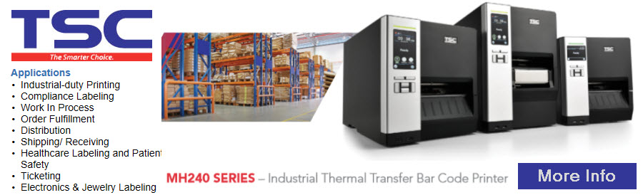 tsc mh240 series industrial printer